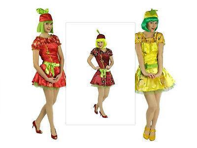 Kostüm süße Früchtchen Früchte Erdbeere Kirsche Zitrone Obst Kleid Karneval