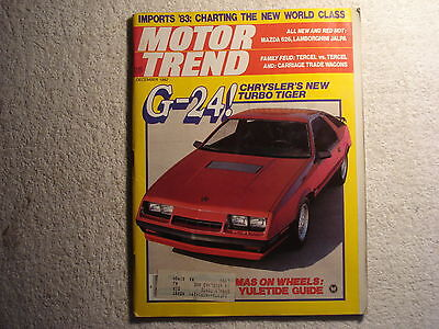 Motor Trend 1982 December Chrysler G24 Lamborghini Fiat X1 9 1936 Rohr Mazda 626