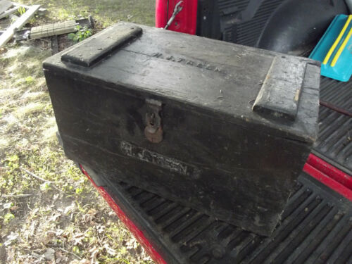 Vintage or antique  Carpenter Tool Box , History in details . FRR SHIPPIN