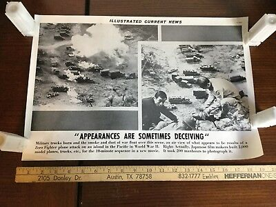 Illustrated Current News Photo - Military Zero Fighter WWII Film Model Movie War