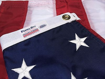 """4X6 FT VALLEY FORGE US NYLON AMERICAN FLAG """"Embroidered Stars Sewn Stripes"""""""