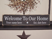 Personalized Wood Welcome Signs