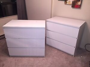 Matching White IKEA Dressers - $30 for both!