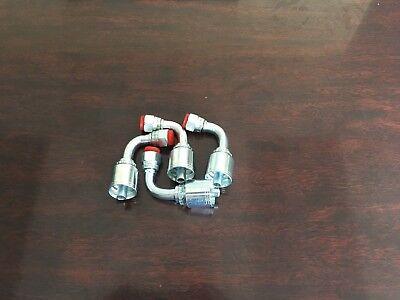 4 Fjx90-6-6 Hydraulic Hose Crimp Fittings 38 X 38 Jic 90 Female 13943-6-6