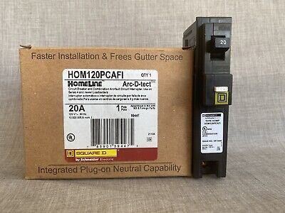 Hom120pcafi- Square D Type Hom Combination Arc-fault 1p 20a- New In Box