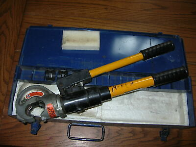 Tb Thomas Betts Tbm-12m Hydraulic Crimper Crimp Tool W 2 Die Sets