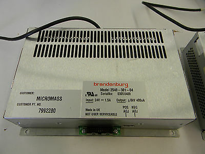 Brandenburg Hv Power Supply 2540-301-04 Waters Q-tof Micromass 7992280 Xlnt 1c0