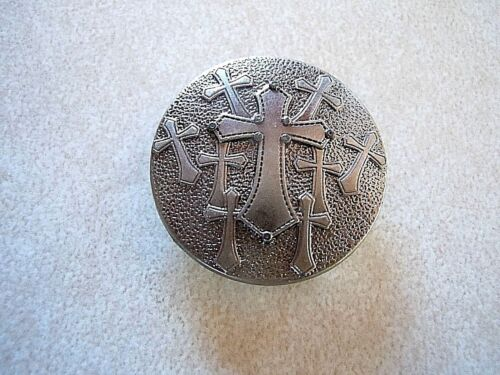"Old Silver Nine Cross Concho 1"" Round"