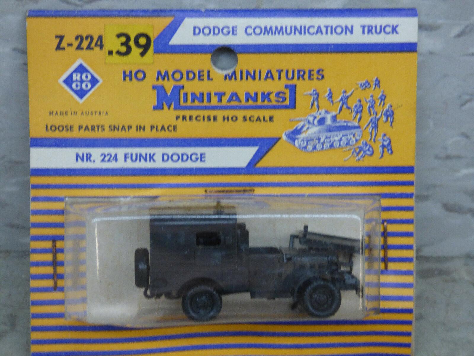 Roco Minitanks / (NEW) 1/87 WWII US Dodge 3/4 T 4x4 Radio Truck Lot #4145