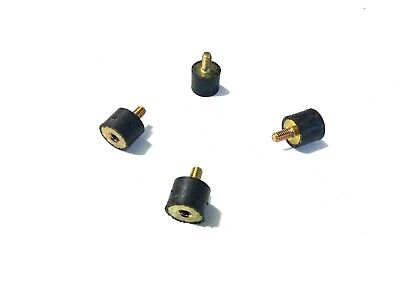 4 Rubber Vibration Isolator Mounts 1 Dia X 34 Ht 516-18 X 58 Length Stud