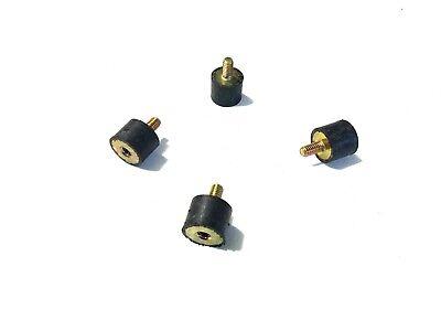 4 Rubber Vibration Isolator Mounts 1 Dia X 34 Ht 516-18 X 58 Length Stud