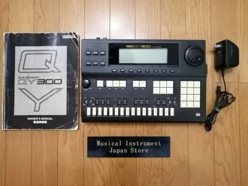 Yamaha QY300 Music Sequencer Sound Module Rhythm Machine with Adapter and Manual