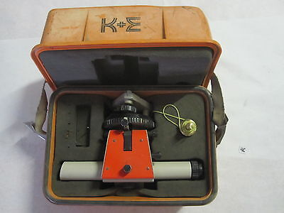 Vintage K E Keuffel Esser Level  Case