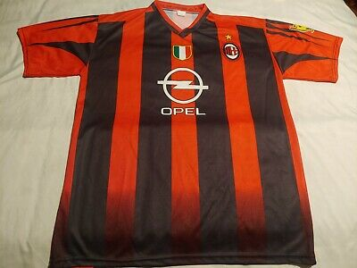 AC Milan Italy Soccer Football Club Home jersey shirt #3 Maldini Men's XL
