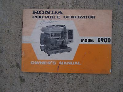 1970 Honda Model E900 Portable Generator Owner Manual More In Our Store S