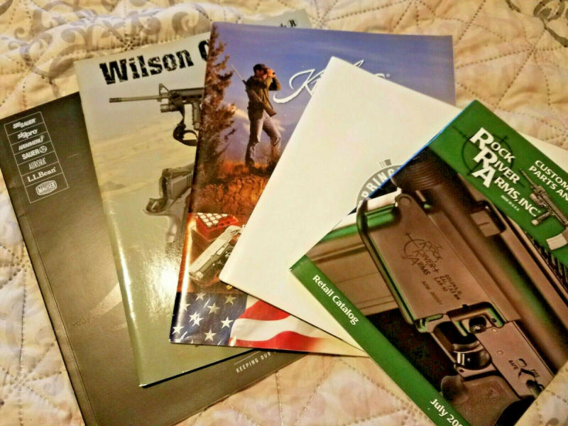 lot 5 FIREARMS Catalogs Rock River Sigarms Springfield Wilson Kimber 2001--2007