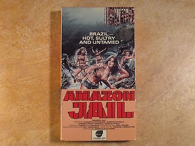 Amazon Jail Unrated Vhs Rare  1St Edition Original Release 1987 Continental