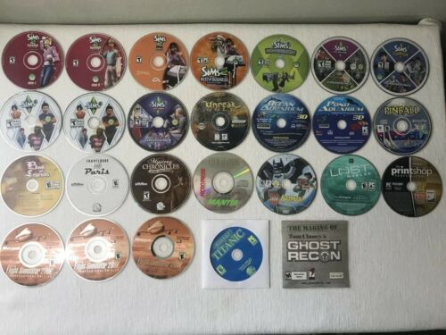 Computer Games - Lot of 26 PC computer games DISCS ONLY - Sims 2,3 & expansions + Much More!!