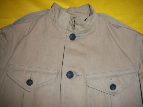 RARE 1904-1910 USMC ENLISTED TAN KHAKI SUMMER CAMPAIGN FIELD TUNIC MINT UNISSUED