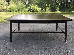 Beautiful Dark Wicker Emporium Coffee Table, Large Table. Wood