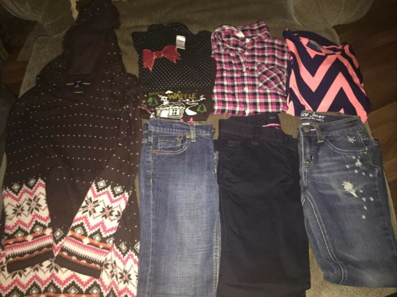 Girls Size 8 Lot Of Fall Winter Clothing Assorted Brands 8 Pieces