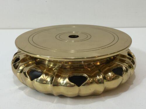 "Vintage Japanese Brass Base Plant Stand Display Floor Vases Holder, 6 3/4"" Dia"
