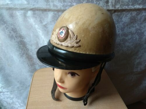 Motorcycle Helmet Hat ORIGINAL Military GAI Automobile Inspection USSR Soviet
