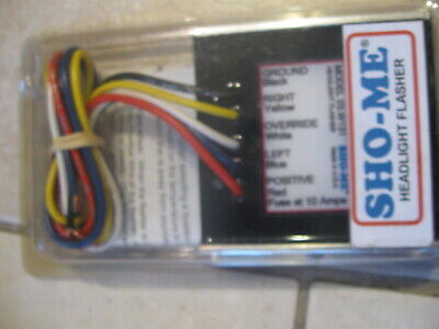 New Sho-me Double Alternating Simultaneous Headlight Flasher 03.w131  W Wires