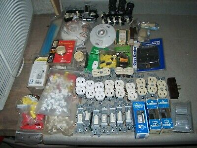 Electrical Receptacles Switch Dimmers Wire Nutsties Staples Surge Wall Tap Lot