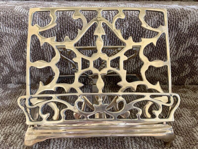 Vintage Ornate Brass Missal & Bible Stand