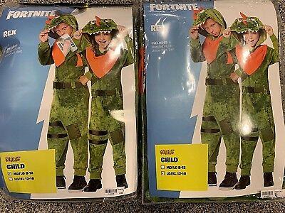 Fortnite Rex Plush Child Costume NWT Spirit Halloween M/L & L/XL All Sizes - Spirit Kids