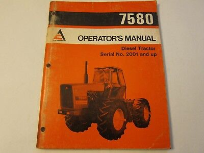 Allis Chalmers Operators Manual 7580 Diesel Tractor Lots More Listed Lg6
