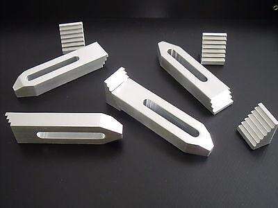 4 Aluminium Spannpratzen mit Treppensteinen,Spanneisen, bis M6,Fräsen,Gravieren