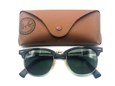 Ray-Ban Clubmaster Aluminum Sunglasses Black Frame / Green Lenses RB3507 (Aluminum Ray Bans)