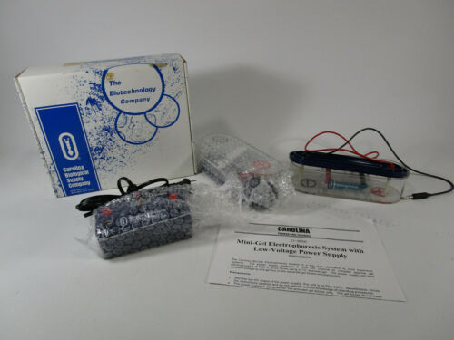 Carolina 2 Mini Gel Electrophoresis Systems w/ power supply Lab Equipment