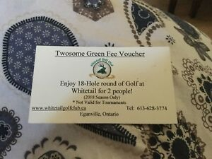White tail golf pass