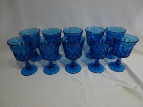 SET OF 10 NORITAKE PERSPECTIVE BLUE WINE GOBLETS