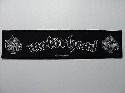 Motorhead Ace Of Spades      Strip  Woven  Patch