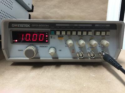 GW INSTEK GFG-8020H FUNCTION GENERATOR TEST EQUIPMENT 0.2Hz - 2Mhz