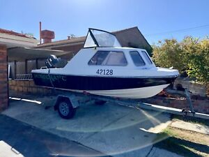 PRICE DROP!! 15ft half cab, 70hp boat for sale