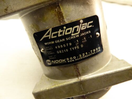ActionJac Worm Gear Screw Jack 1:1 Ratio GB210 Type D