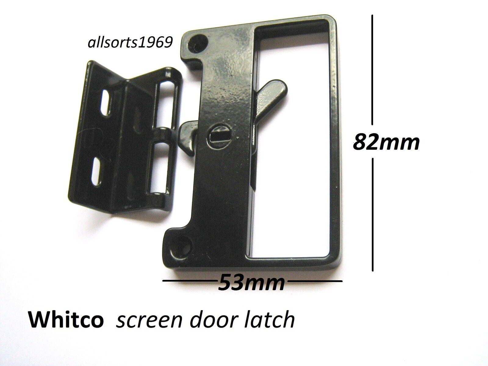 Sliding Screen Door Lock Bass Latch Catch With Outer Handle