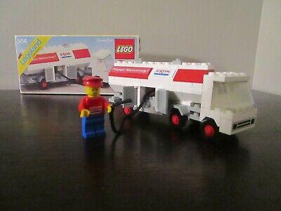 Vintage (1979) LEGO Town Gas Station set 554-1 Exxon Fuel Pumper - VERY RARE