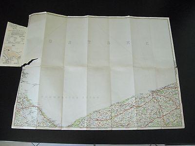 V.B.Strassen Karte Kolberg Wolgast Treptow Cammin Greifenberg um 1940