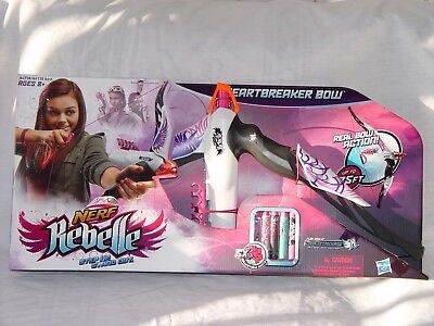 Nerf Rebelle Heartbreaker Bow Darts  Real Bow Action  Shoots 75 Feet New