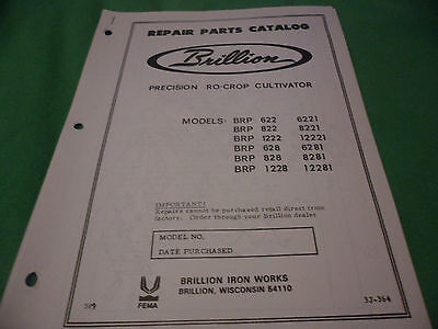 Drawer 16 Brillion Precision Ro-crop Cultivator Brp Repair Parts Catalog