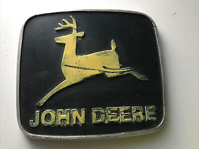 John Deere Original Tractor Hood Emblem Front Bonnet Aluminum 7 12 6 12