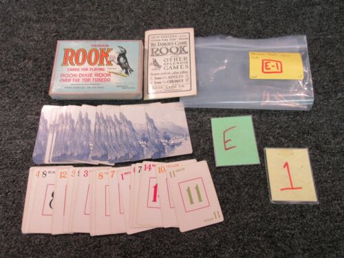 Antique Famous Card Game Rook-Dixie rook over the top Tuxedo ROOK