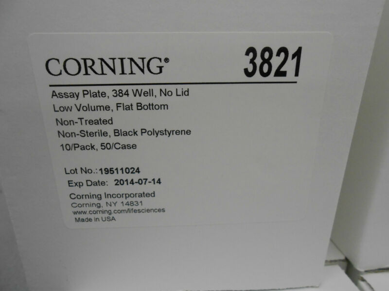 CORNING 3821 LOW VOLUME 384 WELL MICROPLATES QTY. 10 PK