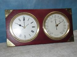 Vintage SEIKO QQZ131A Desk/Mantel Clock & Barometer J0287